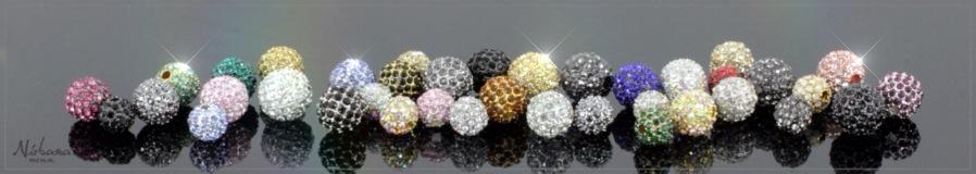Himalaya krystal kugler - Pave beads - CZ krystaller