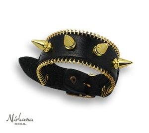 Vasari Læder armbånd X10 Sort