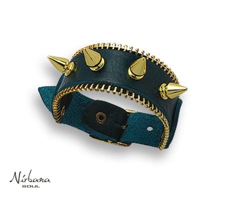 Vasari Læder armbånd X10 Grøn
