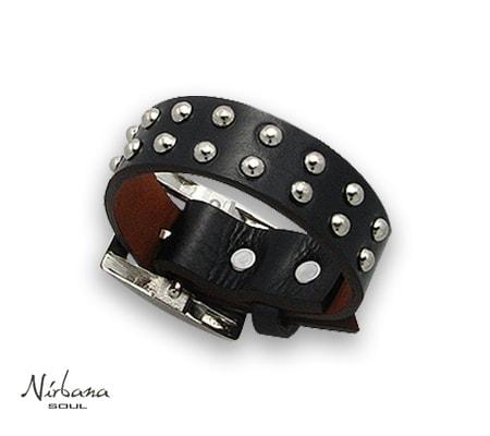 Vasari læderarmbånd i sort