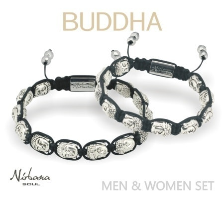 Image of   Buddha armbånd sæt Mand & Dame