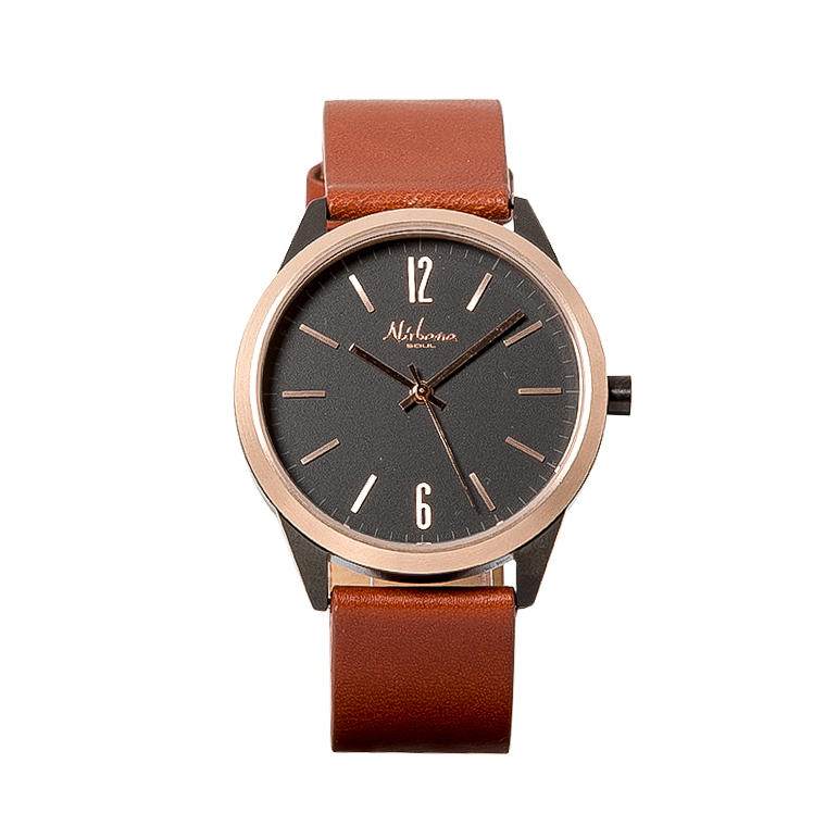 Classic Delux Black/Rosegold Ur + Frosted Agate armbånd 4