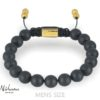 Classic Delux Black/Rosegold Ur + Frosted Agate armbånd 3
