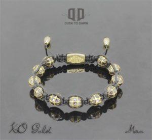 Dusk to Dawn armbånd - XO i Guld