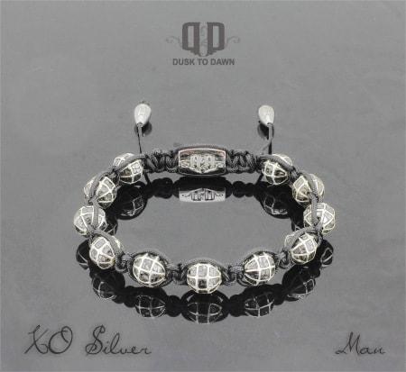 Dusk to Dawn armbånd - XO i Sølv