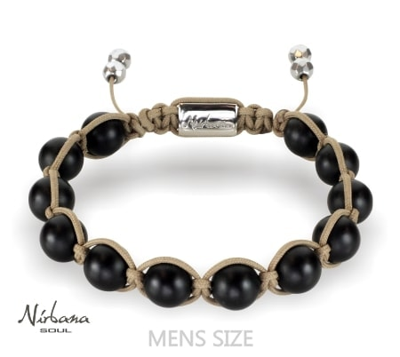Image of   Frosted agate (brown) bracelet