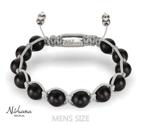 Image of   Frosted agate (grey) bracelet
