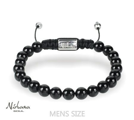 Image of   8mm Onyx Armbånd