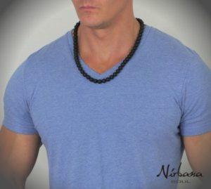 Power halskæde - Mat Agat