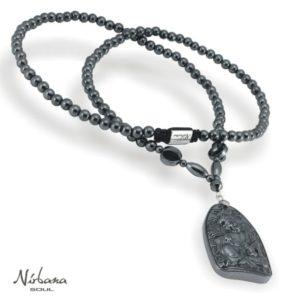 Grey Buddha halskæde