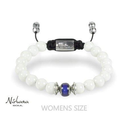 Humør armbånd (Mood stone) - White