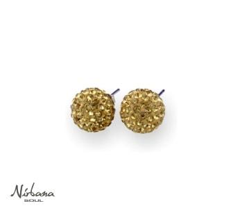 Øreringe 10mm Guld