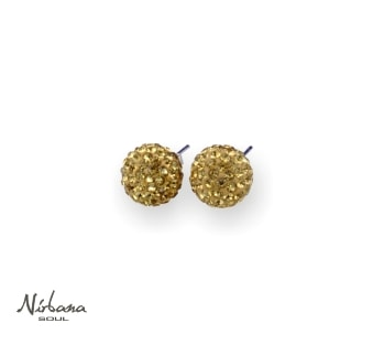 Øreringe 8mm Guld