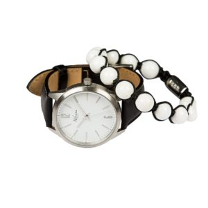 Classic Delux Silver/Black Ur + Golf armbånd