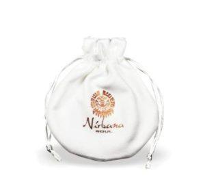 Hvid Stof Smykkepose