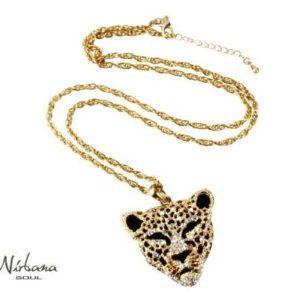 Tiger halskæde med krystaller