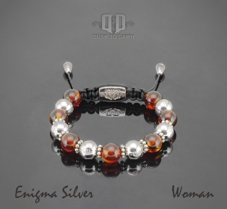 Image of   Dusk to Dawn armbånd - Enigma silver